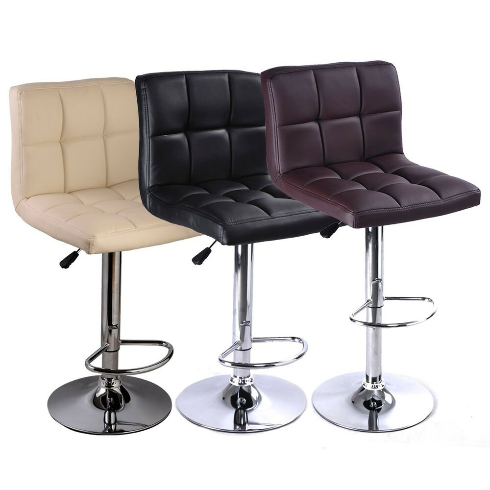 1pc Bar Stool Pu Barstools Chairs Counter Swivel Pub Style