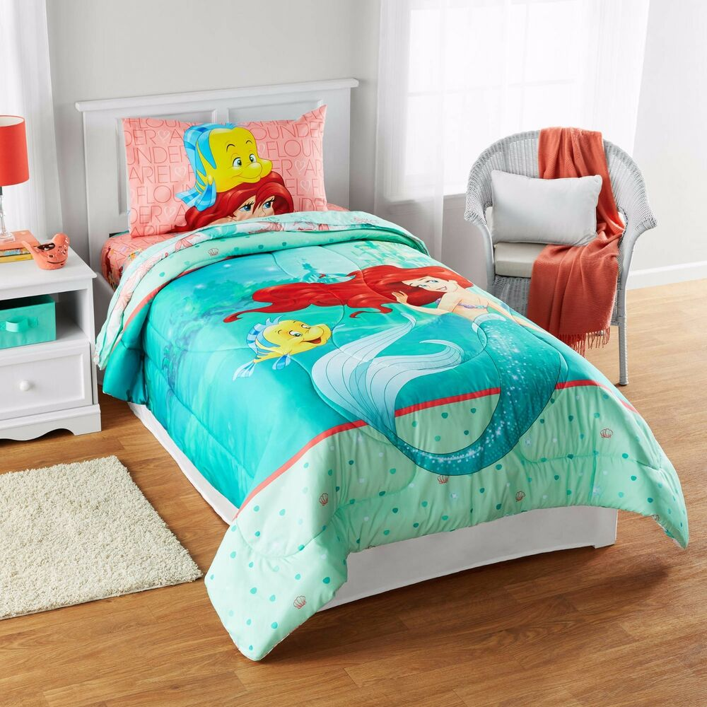 Kids Girls Disney Little Mermaid Ariel Bedding Bed In A