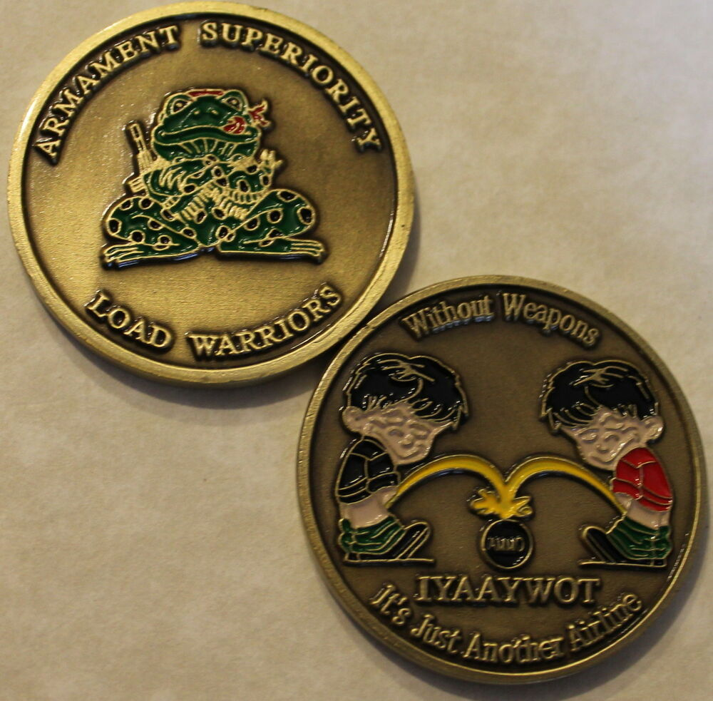 Load Toad Weapons Air Force Challenge Coin Armament