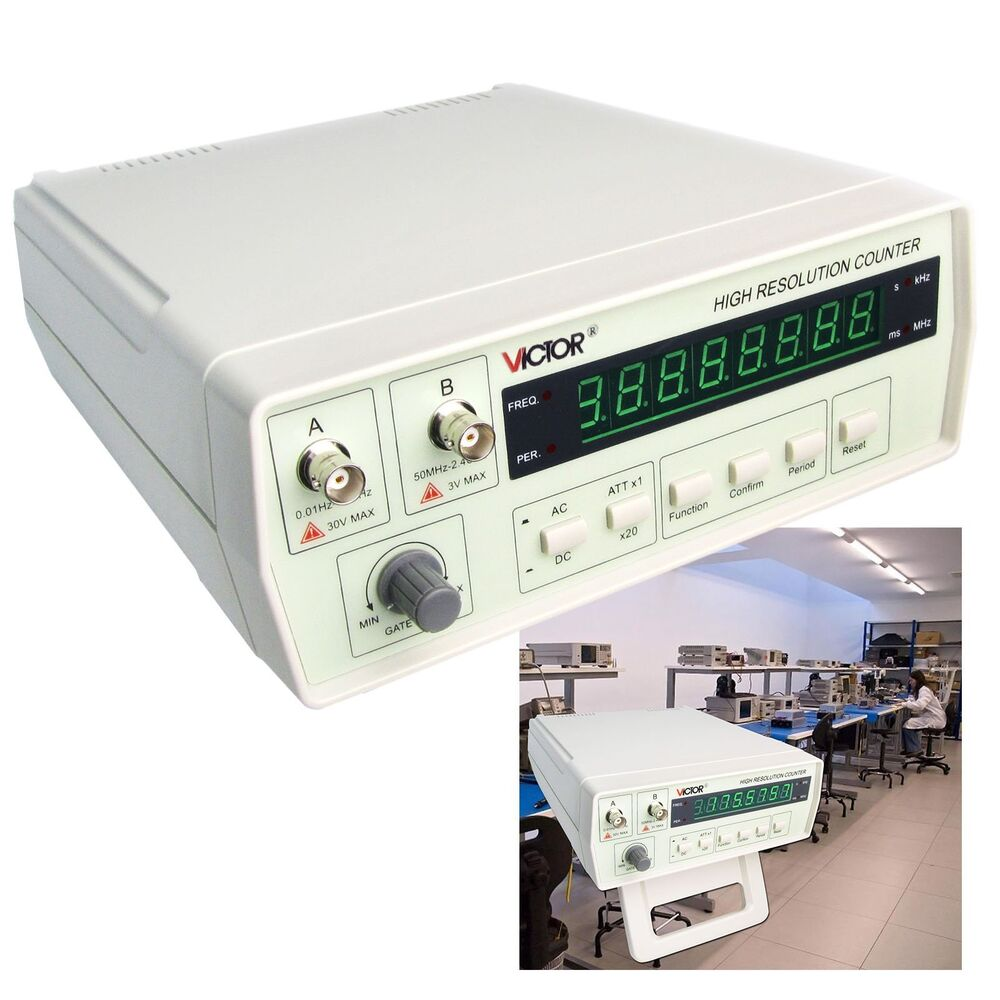 Rf Frequency Counter : Vc precision radio frequency counter rf meter hz