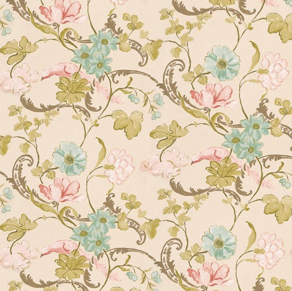 Dolls house wallpaper 1 12th 1 24th scale beige quality for House wallpaper paper