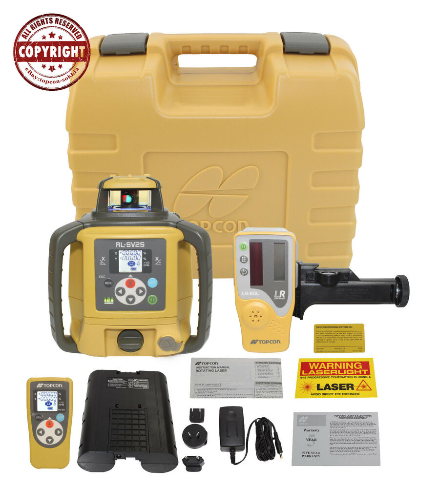 Topcon Rl Sv2s Rb Dual Slope Self Leveling Rotary Grade