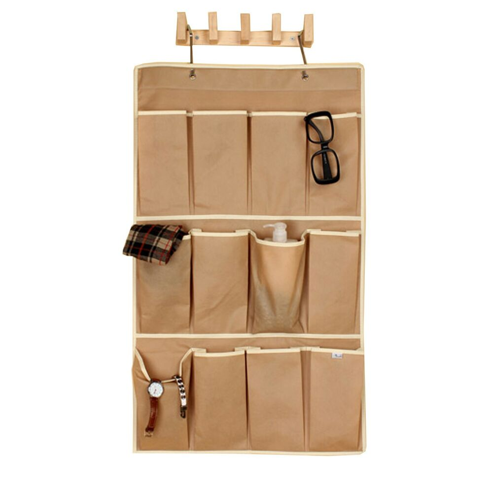 Eco Friendly New 12 Apricot Pockets Shoe Organizer Hanging