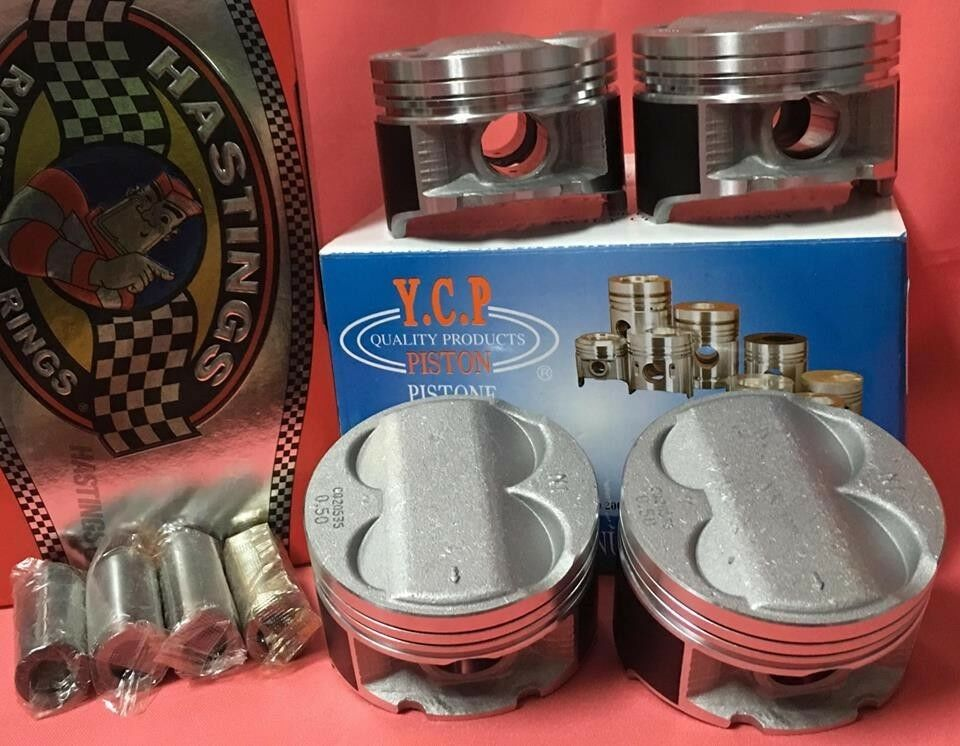ycp    mm high compression pistons rings kit honda acura ebay