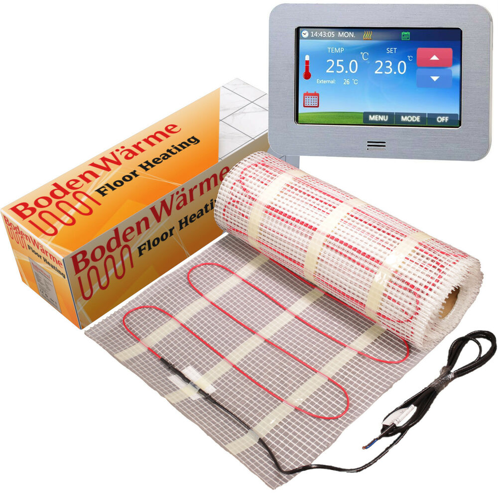 Underfloor Heating Mat All Sizes Dual Core Electric 150w