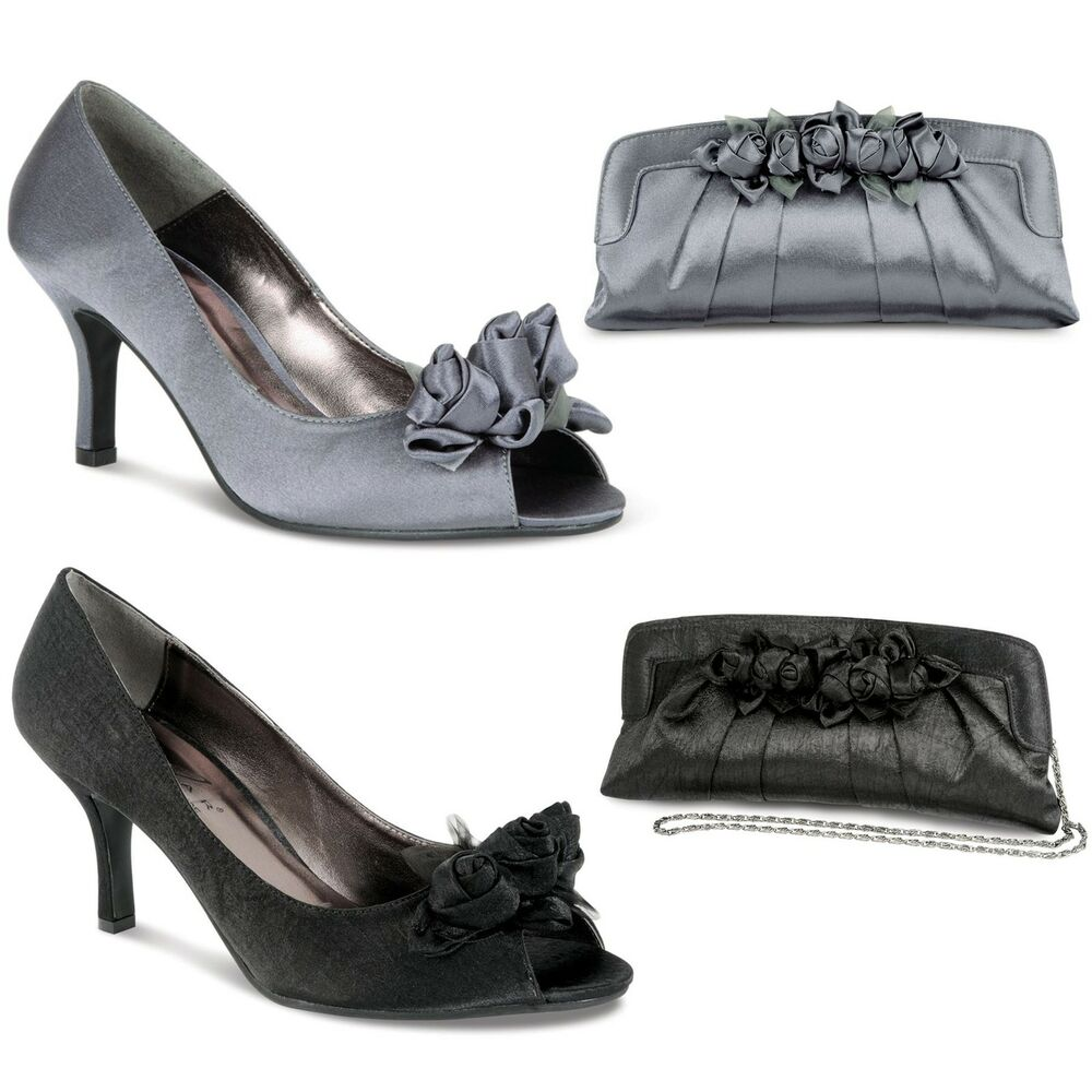 Black Shoes With Grey Trim