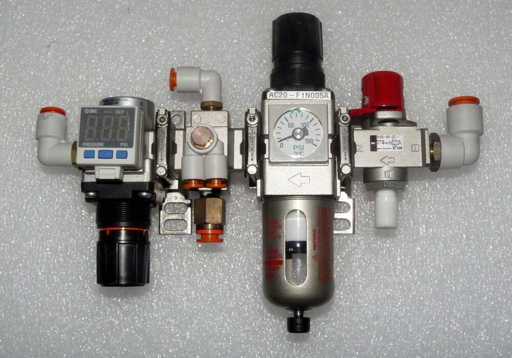 Smc Assy Lockout Valve Filter Regulator Pressure Switch