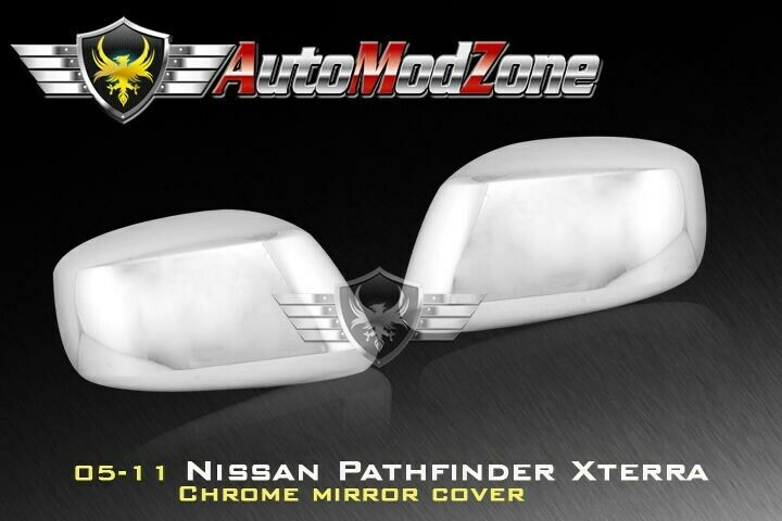 Fit 05 12 Nissan Pathfinder Chrome Side View Mirror Cover