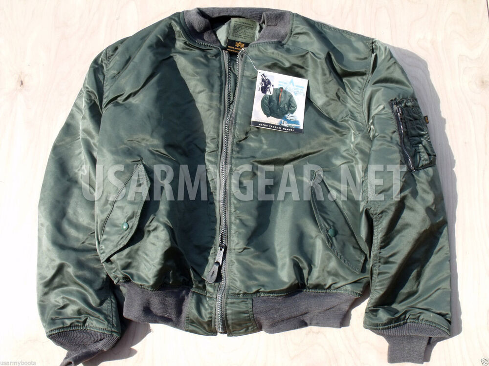 made in usa new alpha us air force flight jacket 2xl xxl. Black Bedroom Furniture Sets. Home Design Ideas