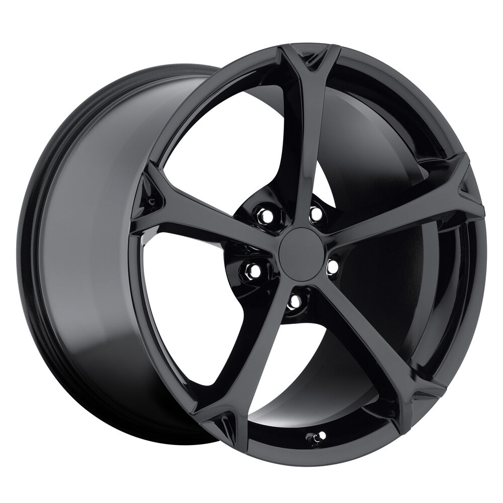 C6 Corvette Grand Sport Black Wheels Rims 17x8 5 18x9 5