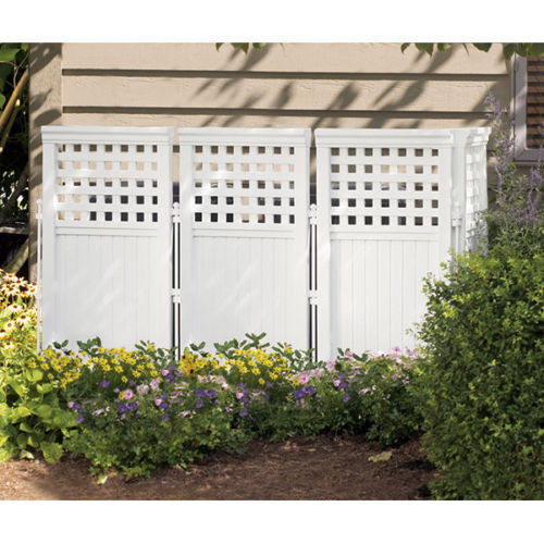 NEW Suncast FS4423 Outdoor Screen Enclosure 4 Panel Gate Fence Resin
