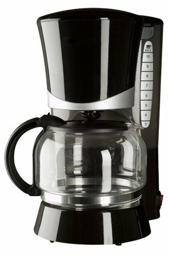 Continental Electric Coffee Maker How To Use : Continental Electric Black 10-Cup Permanent Filter Pause And Serve Coffee Maker eBay