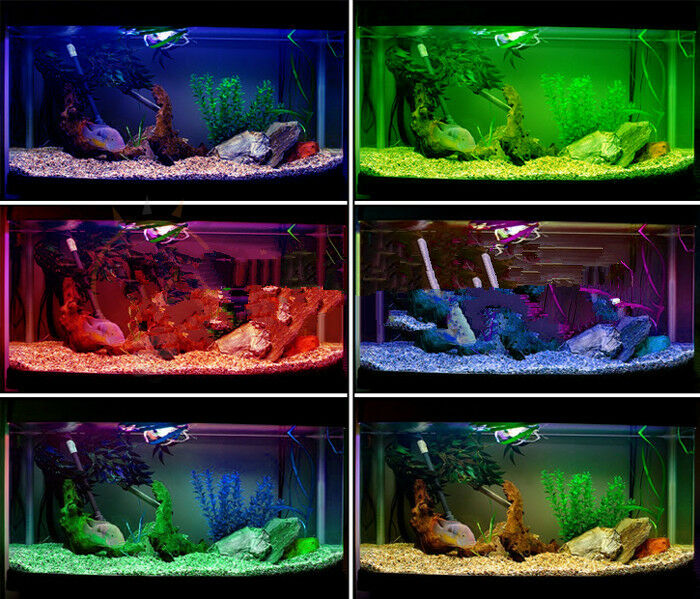 aquarium teich fische led beleuchtung wasserdicht mit luftbl tageslichtsimulator ebay. Black Bedroom Furniture Sets. Home Design Ideas
