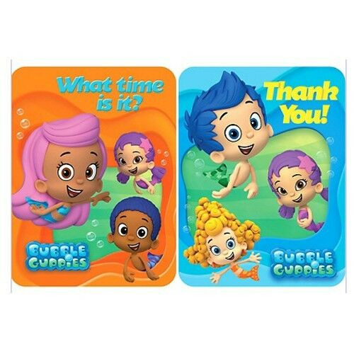 Details About Bubble Guppies Birthday Party Supplies Invitations Thank You Free Shipping