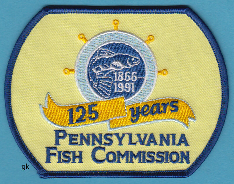 Pennsylvania fish commission 125th anniversary shoulder for Pa boat and fish commission
