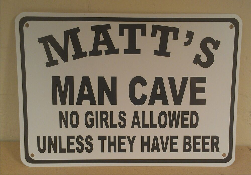 Man Cave Garage Signs : Personalize this man cave quot x polystyrene novelty sign