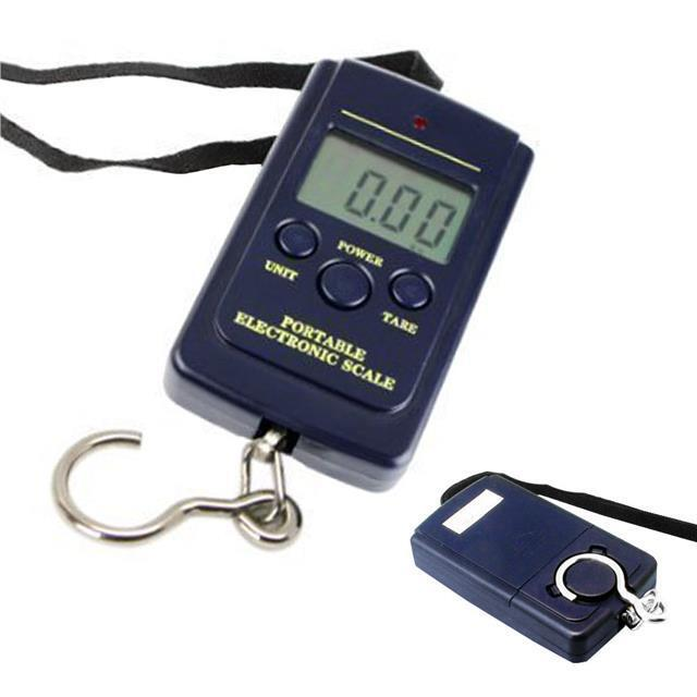 Digital scale balance lcd 40kg luggage fishing hanging for Fish weight scale