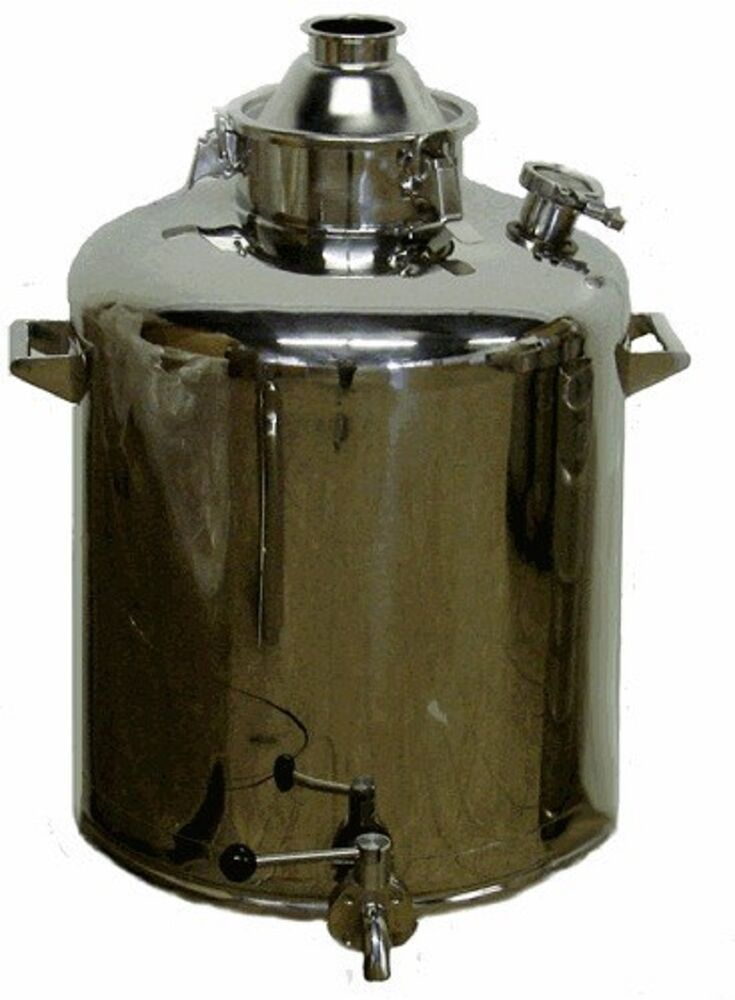 Boiler Water Column ~ Gallon stainless milk can sanitary moonshine e water