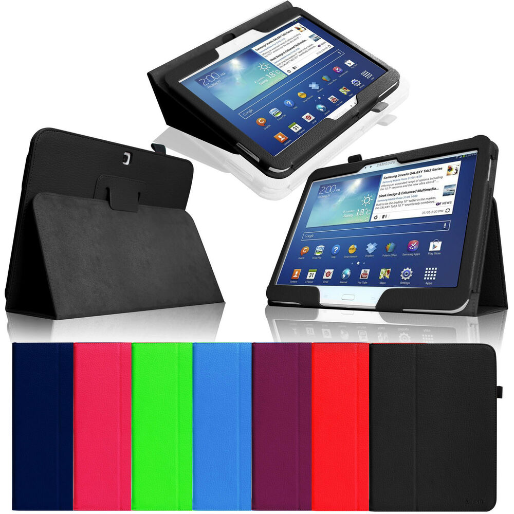 folio leather stand case cover for samsung galaxy tab 3. Black Bedroom Furniture Sets. Home Design Ideas