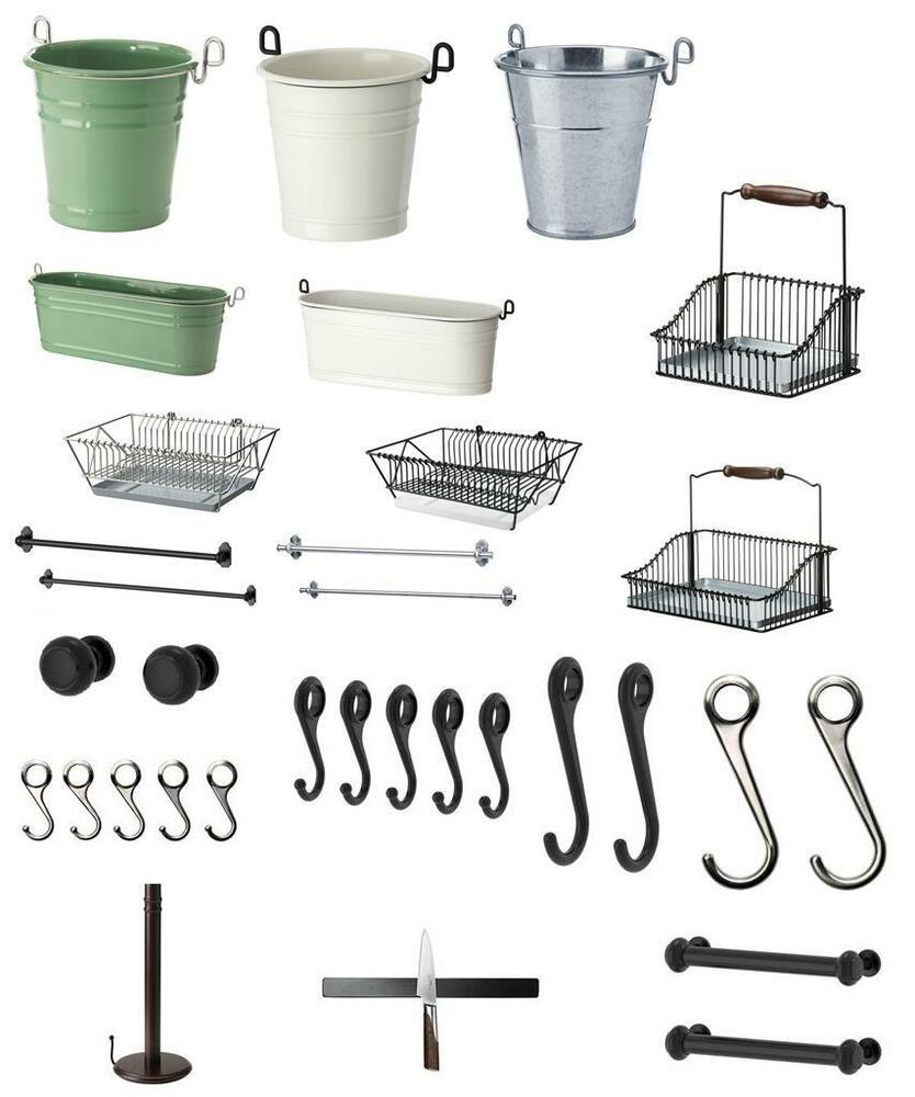 ikea fintorp kitchen bathroom accessories range in one listing ebay. Black Bedroom Furniture Sets. Home Design Ideas