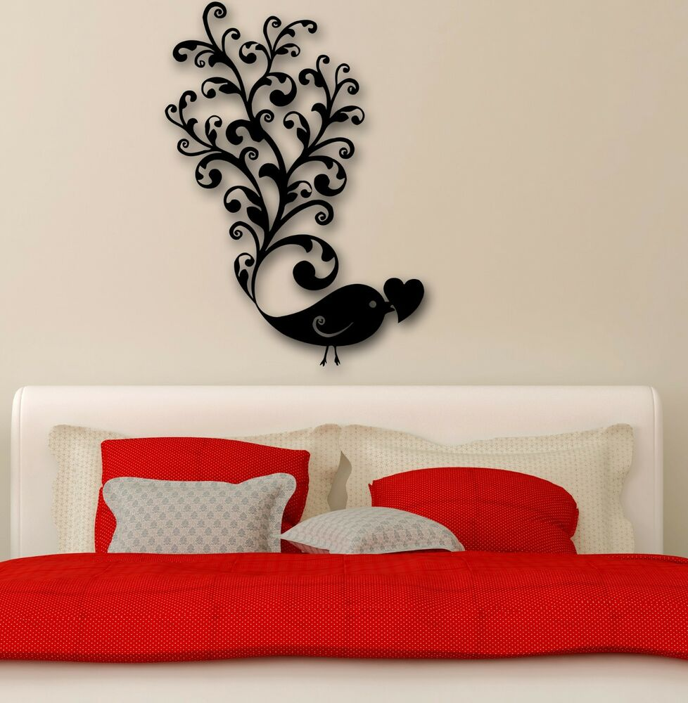 wall stickers vinyl decal bird love romance cool bedroom 10729 | s l1000