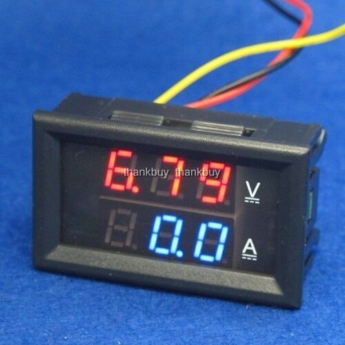 Backup Battery For Amp Meter : A v dc digital voltmeter ammeter led amp volt