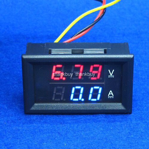 Backup Battery For Amp Meter : A v dc digital voltmeter ammeter led amp volt meter