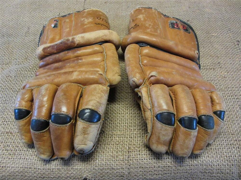 Vintage Leather Canada Hockey Gloves Gt Antique Old Sports