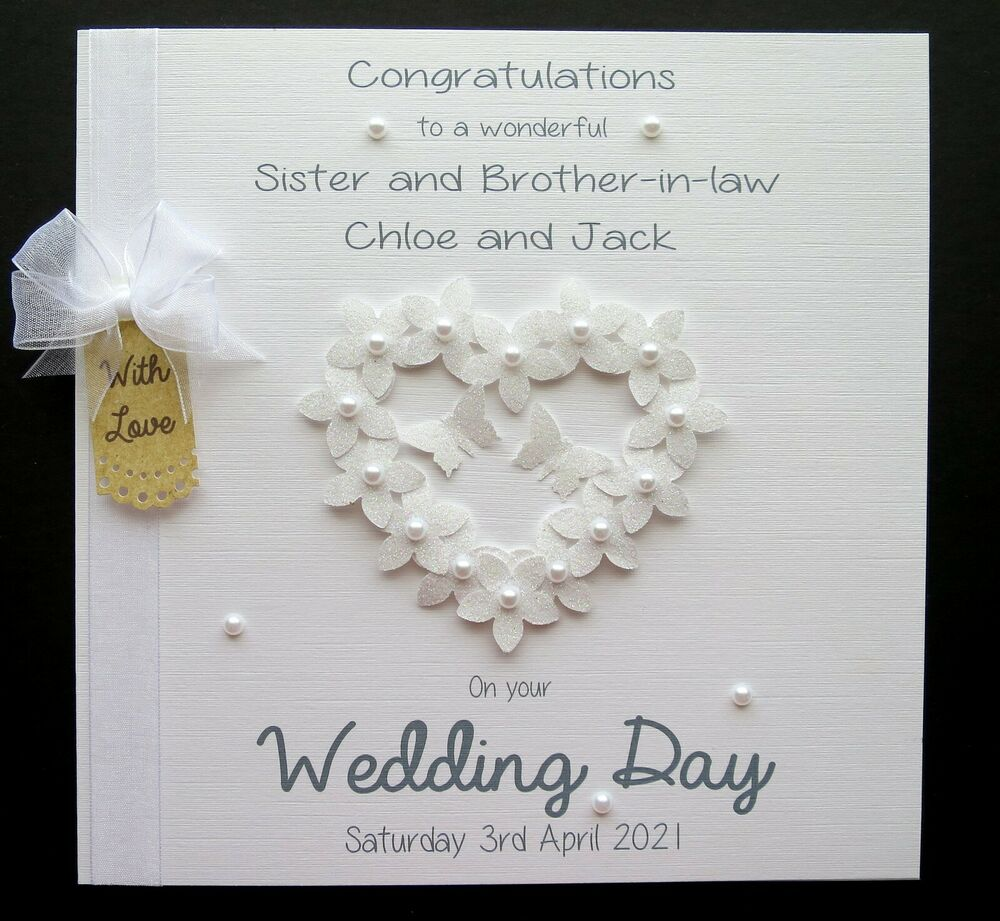 Special Gift For Brother On His Wedding Day : LARGE Personalised Wedding Day Engagement Anniversary Congrats ...