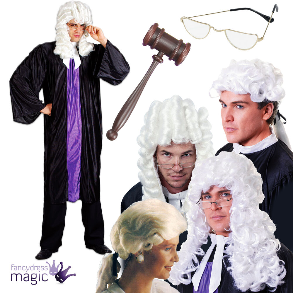 Adult Judge Fancy Dress Costume Outfit Barrister Lawyer