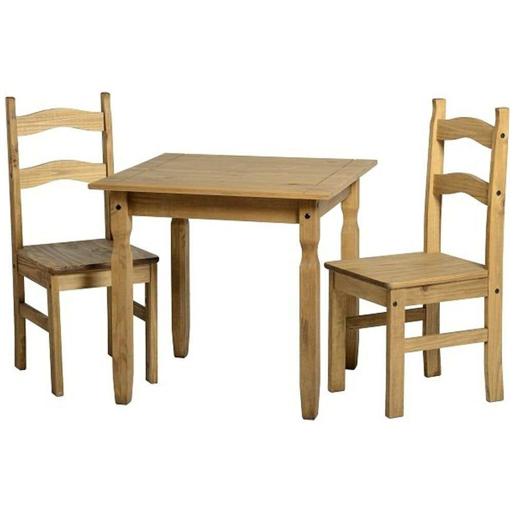 Rio dining table 2 chairs dining set dining room for Pine dining room table