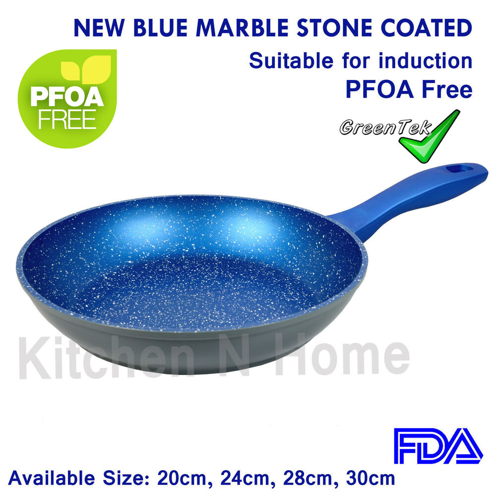 Non Stick Frypan Fry Pan Blue Stone Coated Pan