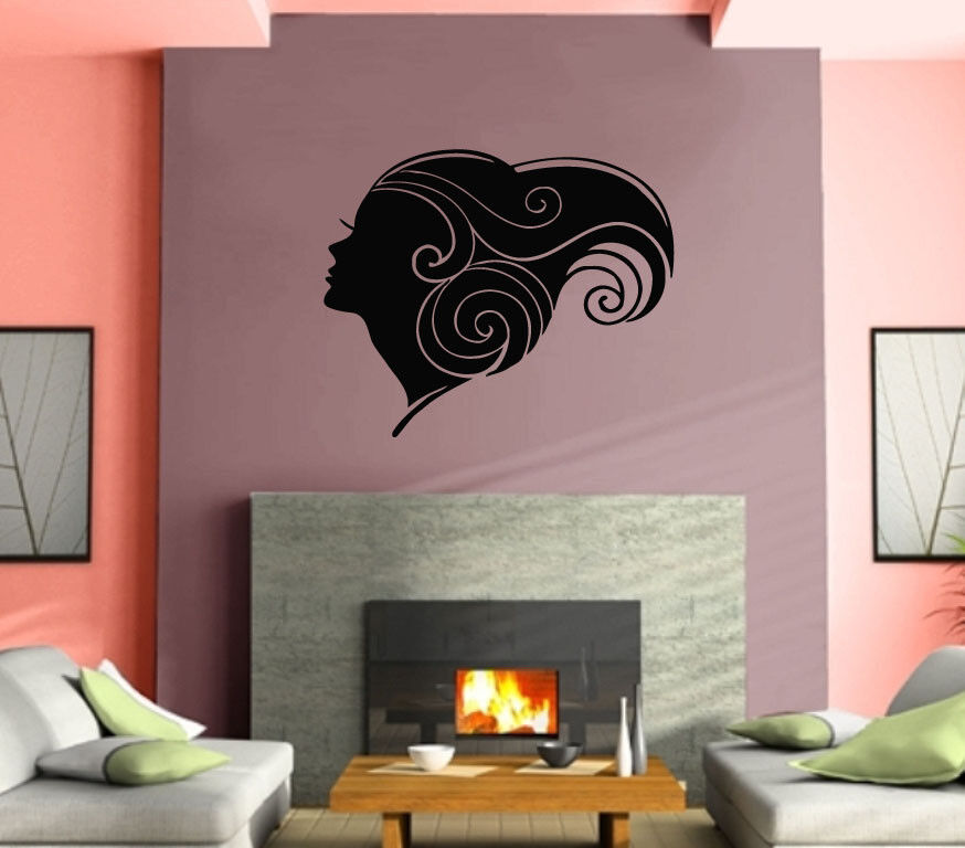 Sexy hot girl woman hair spa beauty salon wall art decor for Spa wall decor