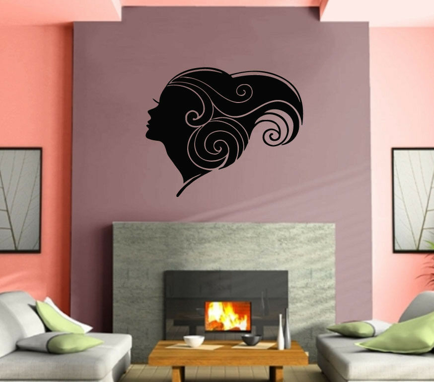 sexy hot girl woman hair spa beauty salon wall art decor