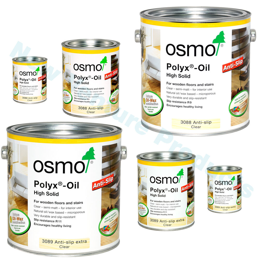 Osmo Anti Slip Polyx Oil Clear Semi Matt 3088 R9 Amp 3089