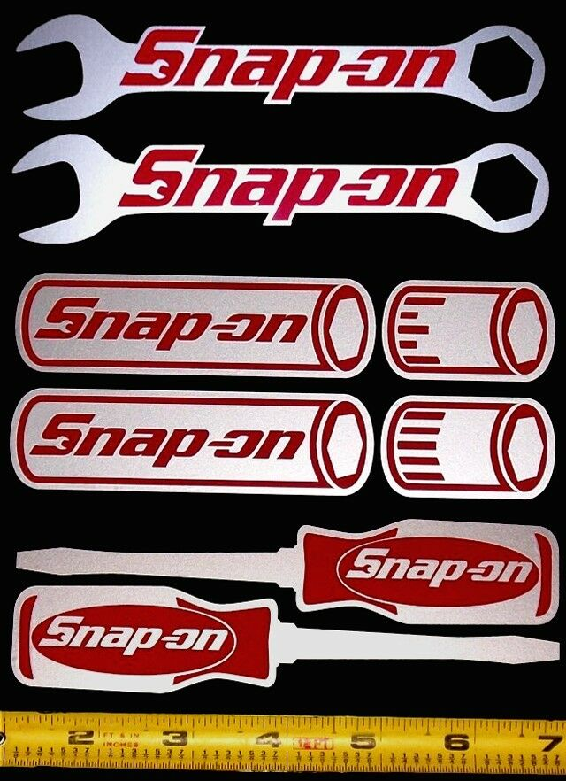 Snap On Sticker Decal Set1 Wrenches Sockets Screw Drivers