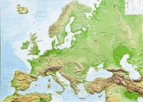 Real 3d relief map europe landscape 77x57cm 100575 ebay