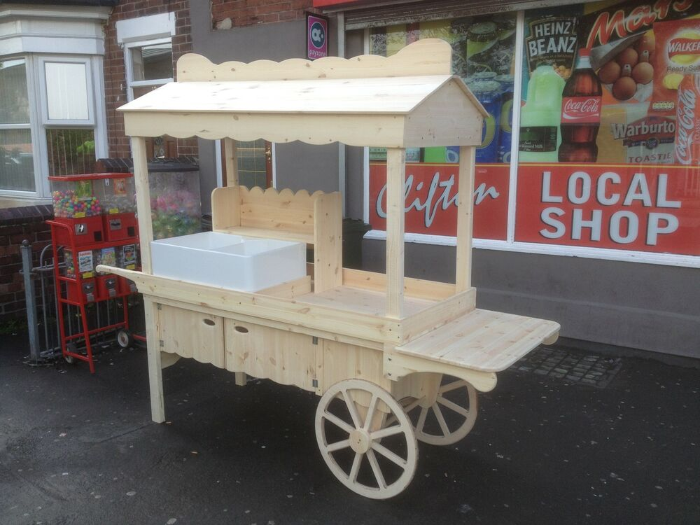 Point Of Sale Vintage Wooden Market Stall Ebay