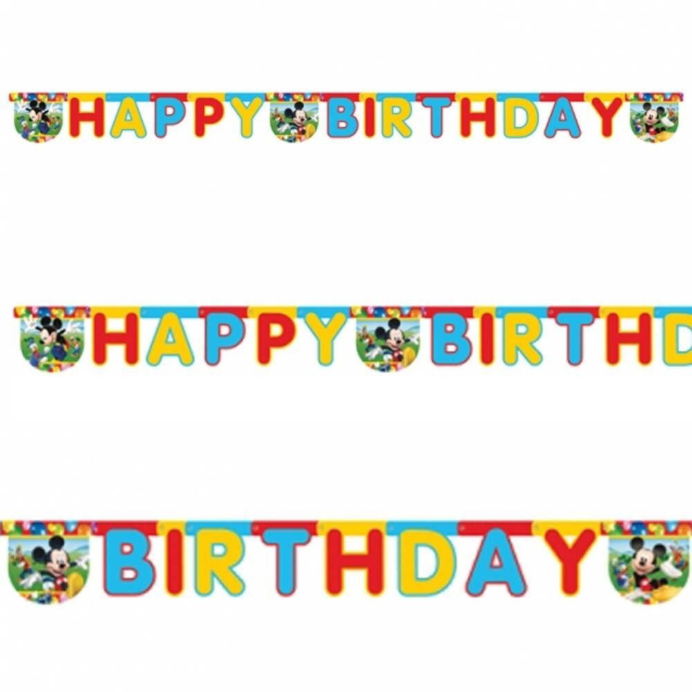 disney mickey mouse balloons clubhouse happy birthday party letter banner ebay. Black Bedroom Furniture Sets. Home Design Ideas