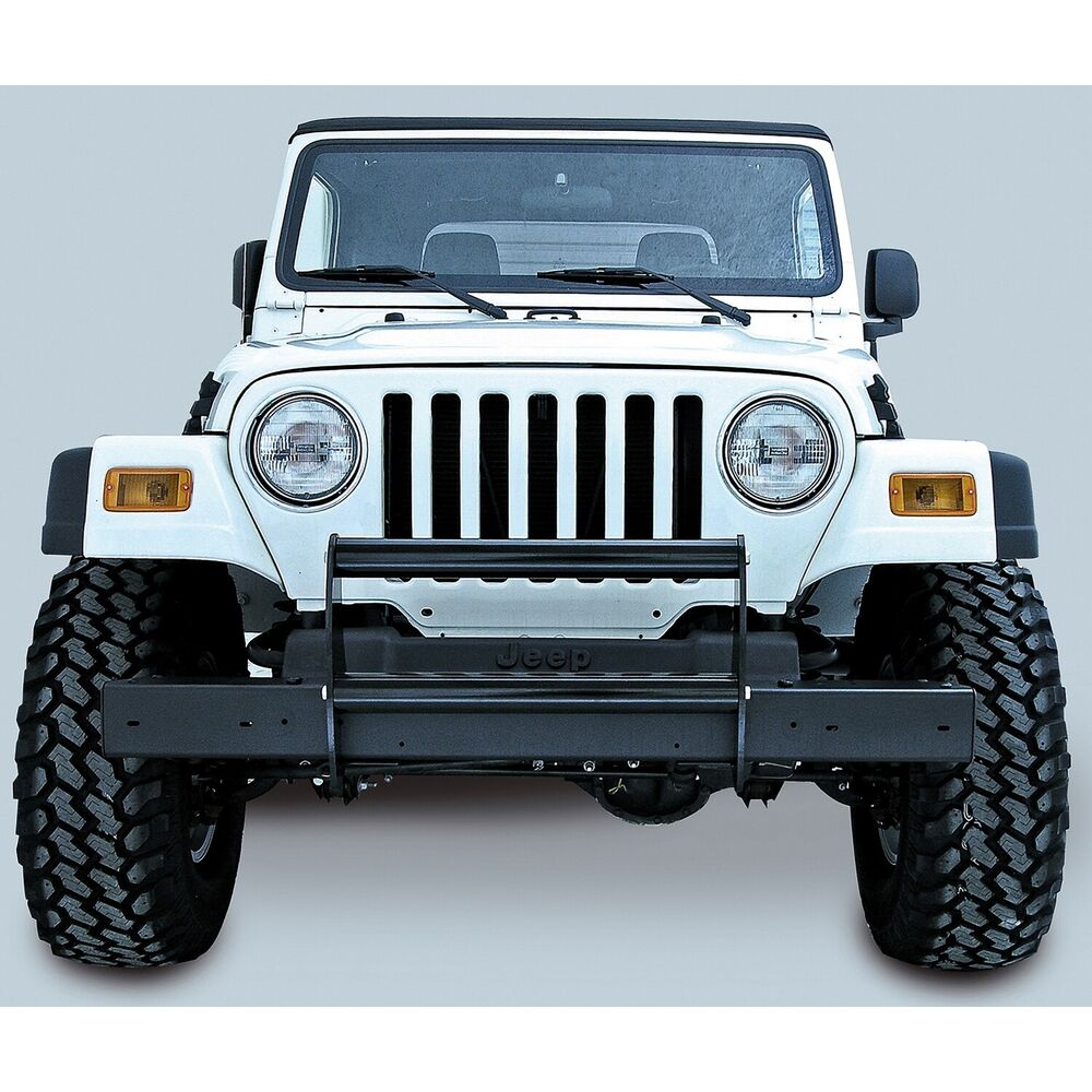 Jeep Grill Guards And Bumpers : Gloss black front bumper guard jeep wrangler tj