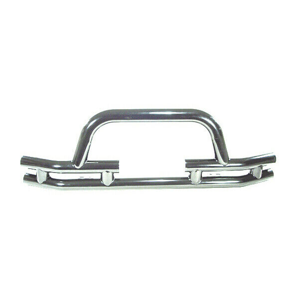 stainless steel front tube bumper with winch cutout jeep cj5 cj7 yj tj wrangler