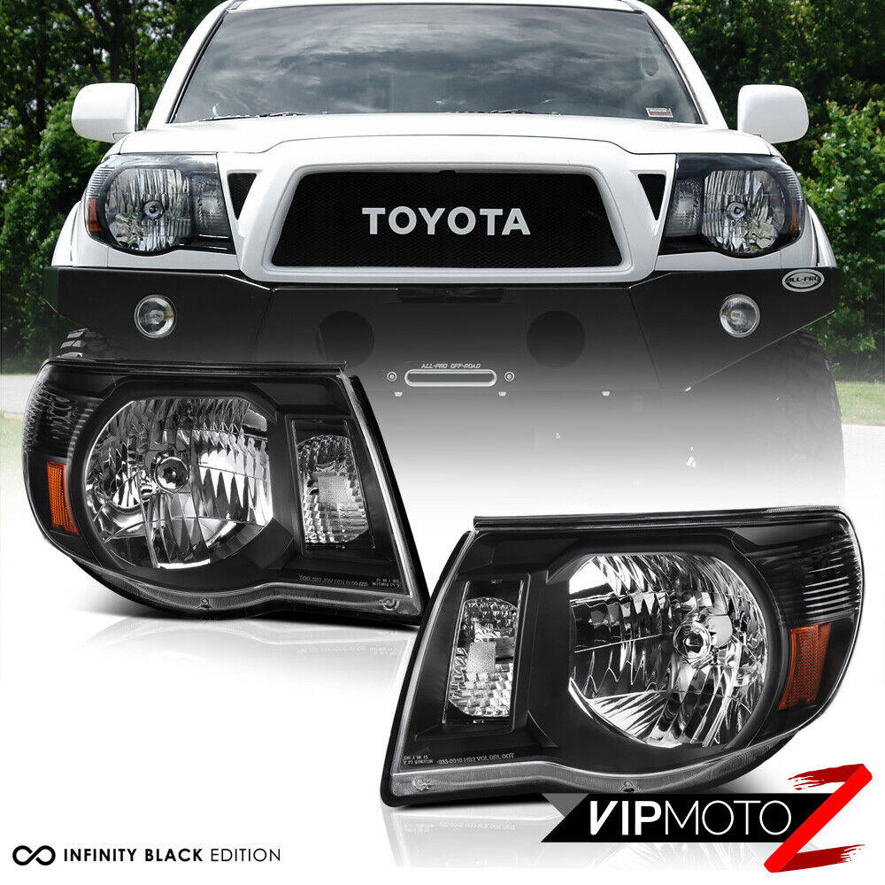 2005 2011 toyota tacoma trd style black front headlights. Black Bedroom Furniture Sets. Home Design Ideas
