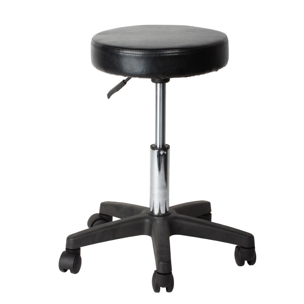 Pneumatic rolling adjustable swivel stool work spa chair for Stool chair