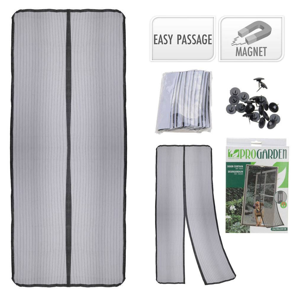 Mesh Insect Repellent Door Screen Magnetic Insect Fly