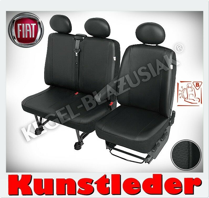 kunstleder sitzbez ge fiat ducato peugeot boxer schwarz. Black Bedroom Furniture Sets. Home Design Ideas