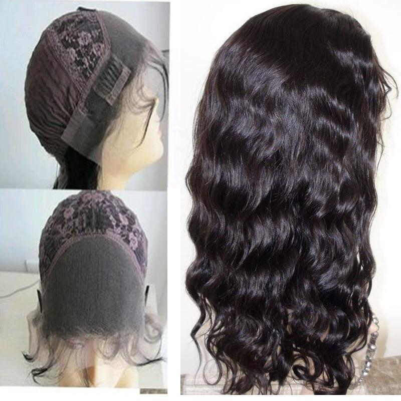 Body Wave 100 Indian Remy Human Hair Front Lace Wigs Full