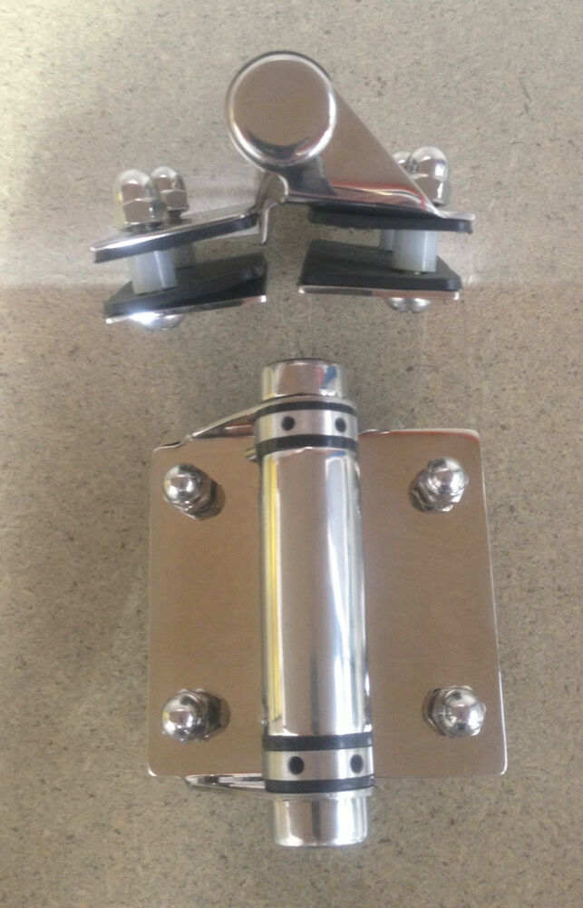 Glass pool fence gate hinge stainless steel self