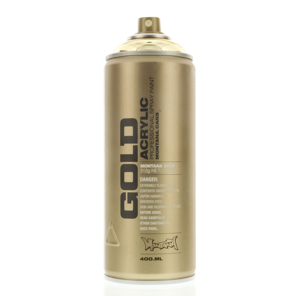 Montana Gold Acrylic Spray Paint Goldchrome M3000 Urban Art 1 Can Ebay
