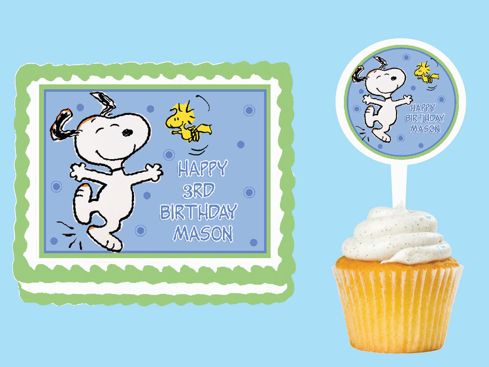 Snoopy Cake Toppers Birthday