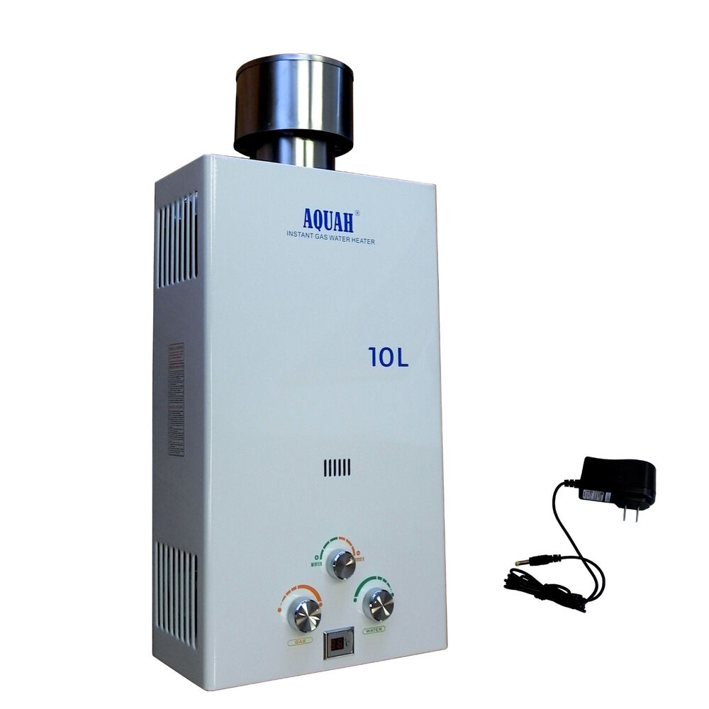 aquah 10l gpm outdoor liquid propane gas tankless gas water heater ebay. Black Bedroom Furniture Sets. Home Design Ideas